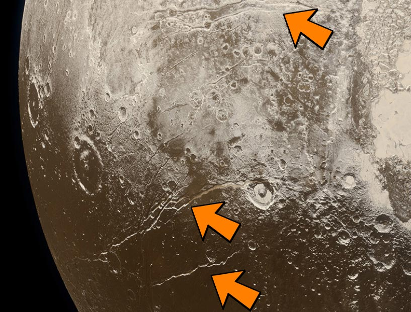 Pluto Extensional Faults