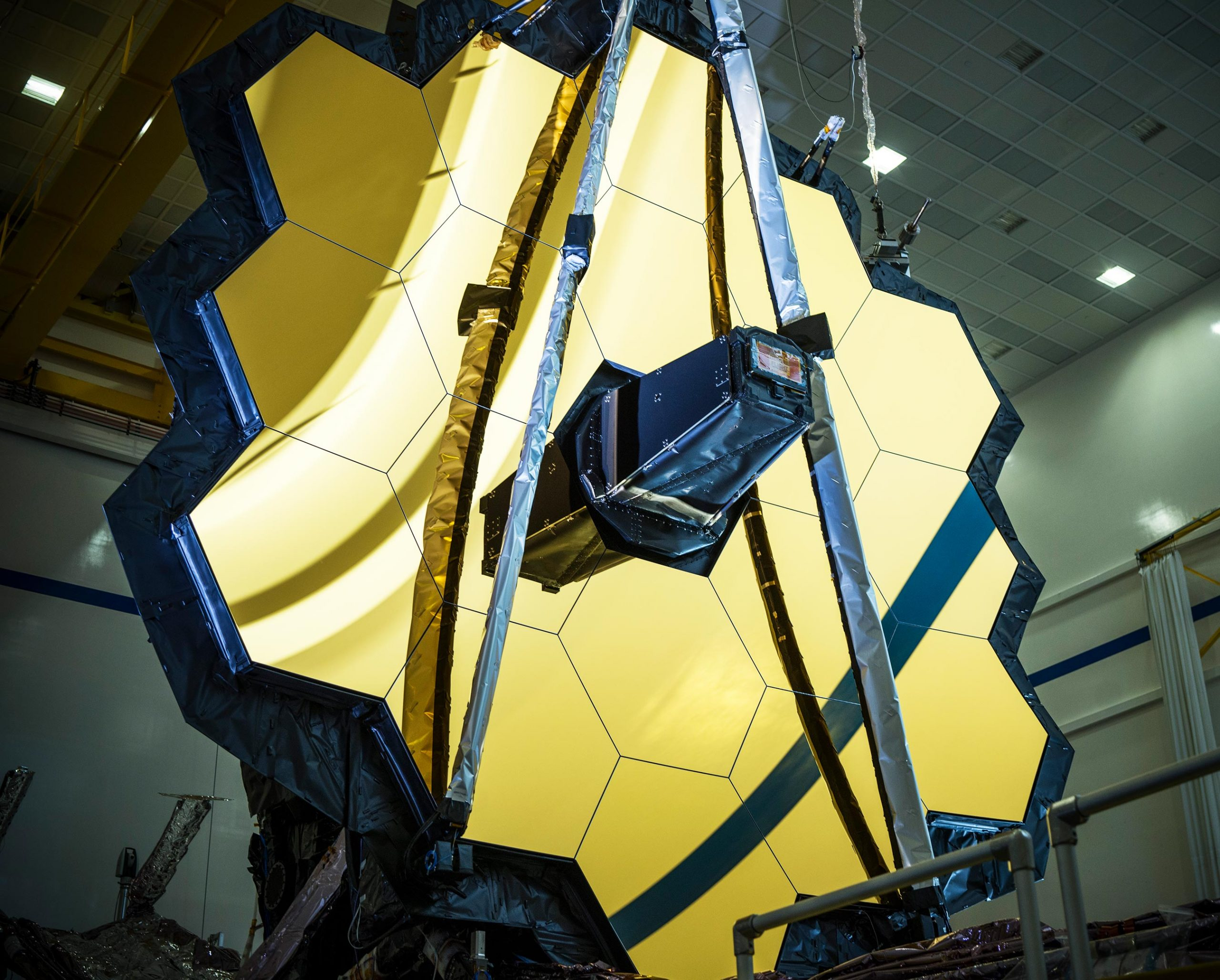 James Webb Space Telescope Primary Mirror Fully Deployed scaled