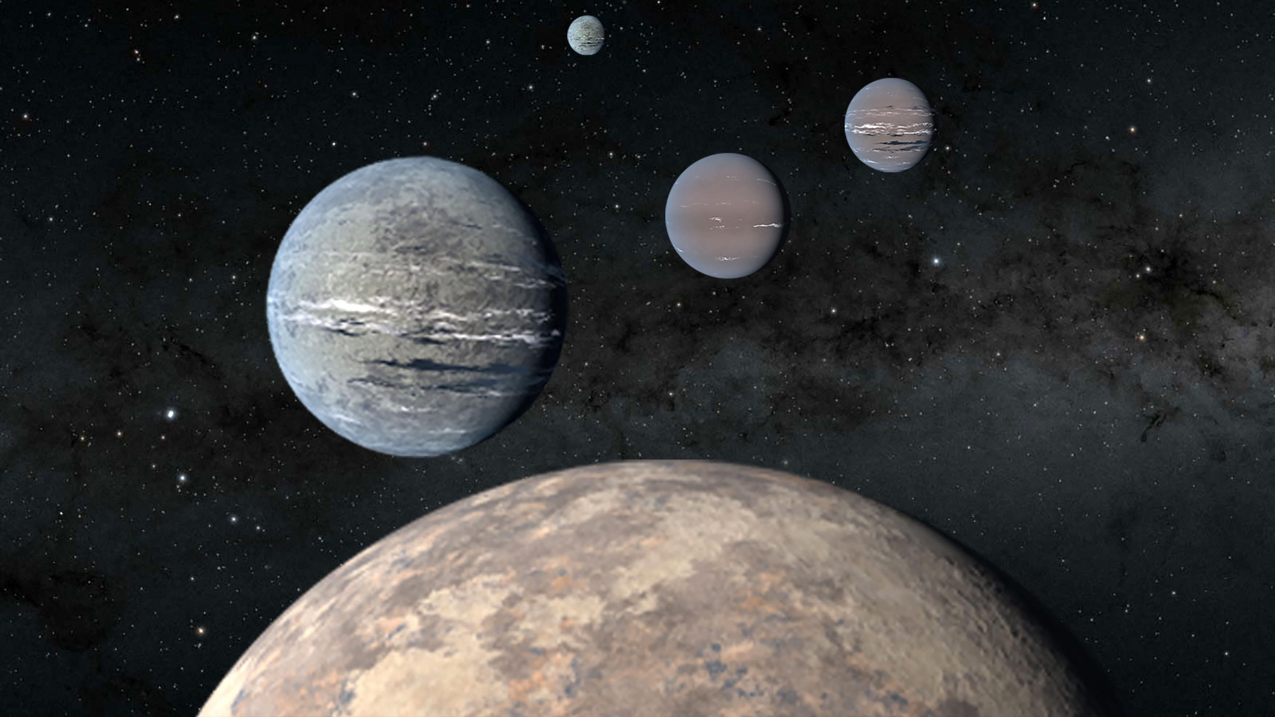 Exoplanets Orbiting Star TOI scaled