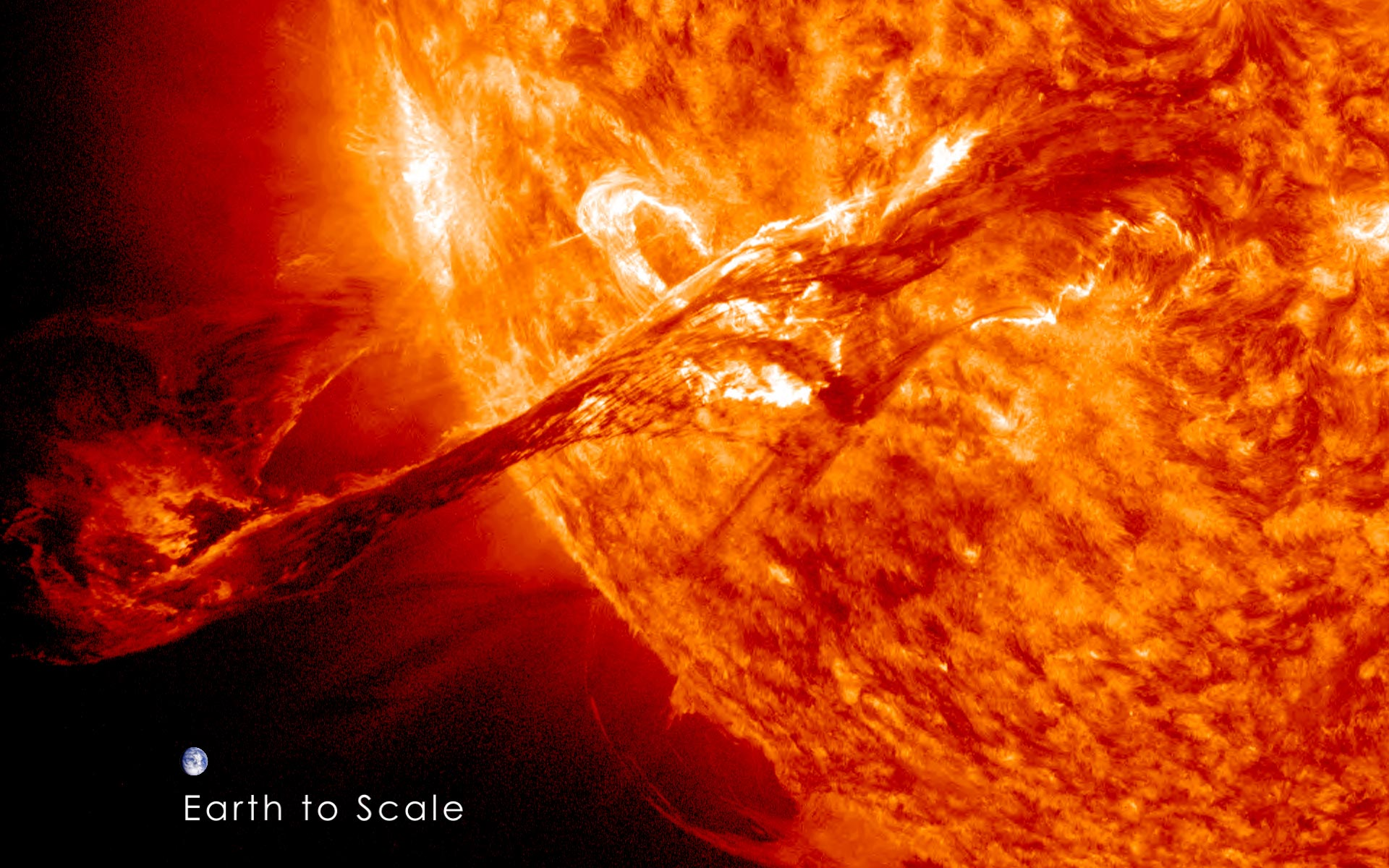 Coronal Mass Ejection Earth Scale